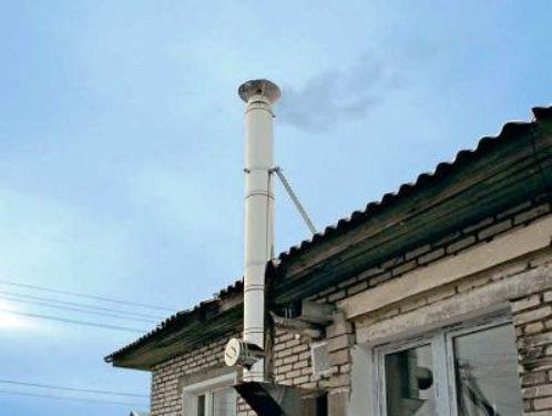 Правильно выведенный дымоход