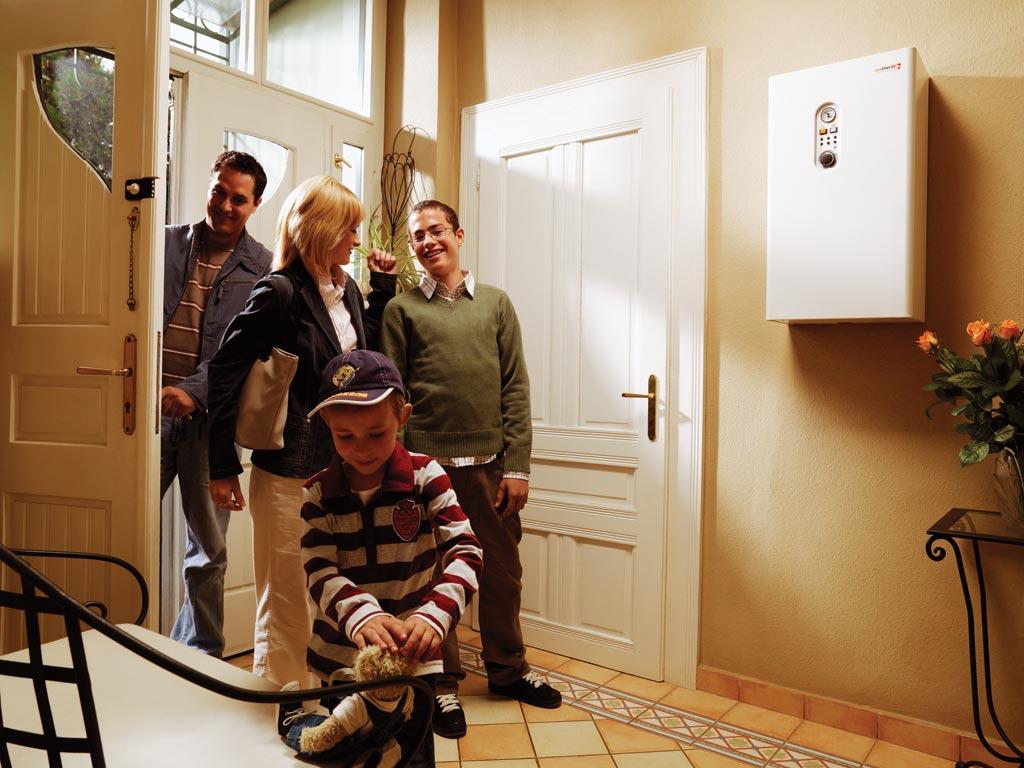 Установка электрокотла в квартире