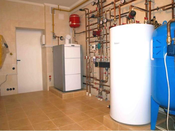 Пример напольного монтажа агрегата отопления