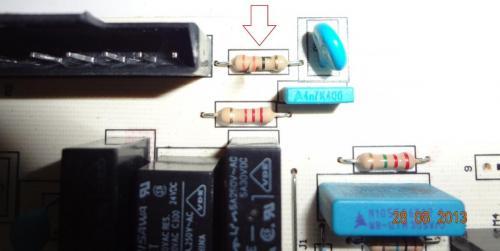 Выход из строя резистора на плате управления котлом