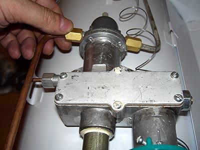 Узел установки термодатчика