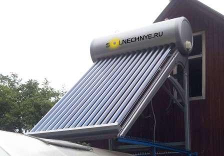 Накопительный солнечный водонагреватель